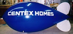 Texas blimps for sale - blimp with Centex Homes logo
